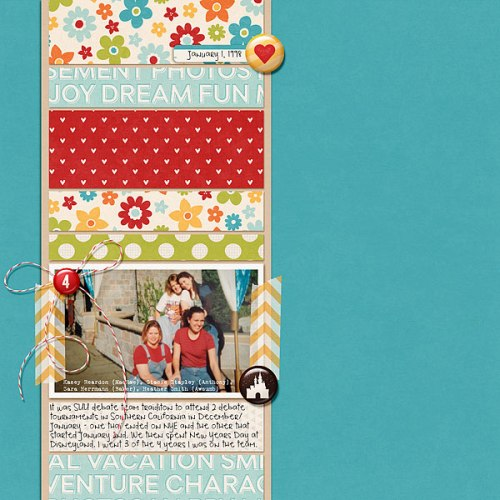 Disneyland Tradition by Heather Awsumb | Supplies: Dreams Come True Papers, Flair and Elements by Scotty Girl Designs