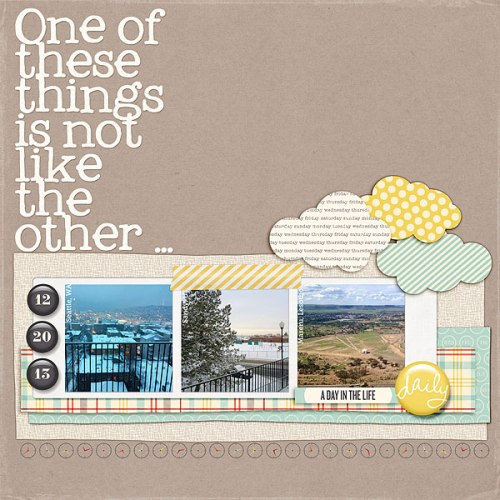 One of These Things by Heather Awsumb | Supplies: Day Planner by One Little Bird