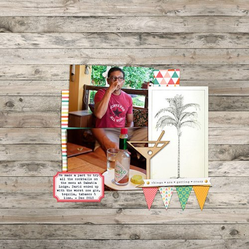 Things Are Getting Crazy by Heather Awsumb | Supplies: Bermuda Triangle Kit by Pixels & Co.; Surf Lagoon Element Pack by Katie Pertiet; Going Places by One Little Bird.