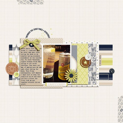 Mid-Week Sundowners by Heather Awsumb | Supplies: Plant Your Story {Journaled} v. 4 by Sara Gleason; This Magic Moment, Day Trippers by One Little Bird; Away We Go Stamps by Katie Pertiet; Worth a Thousand Words by Sahlin Studio.