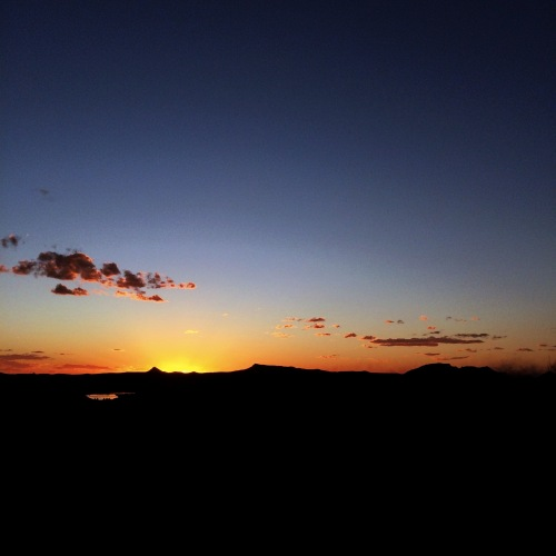 Sunset from the Lesotho Sun yesterday.
